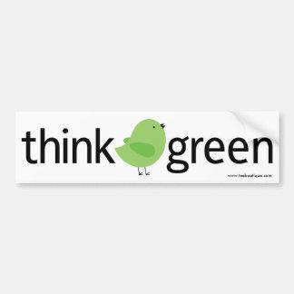 Think Green Bird Bumper Sticker