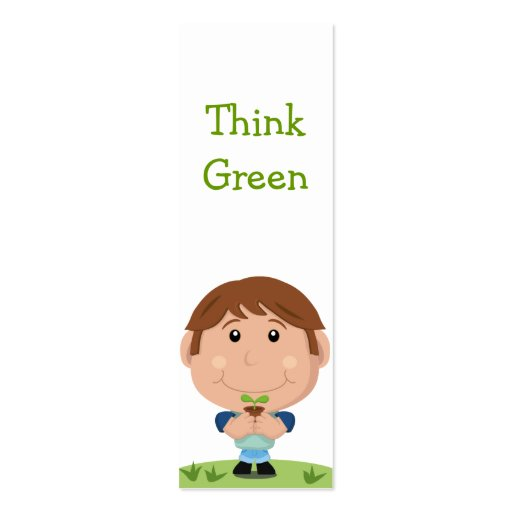Think Green Bookmark Business Card Templates
