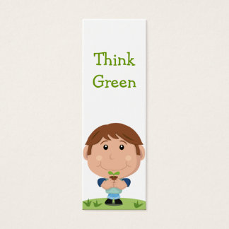 Think Green Bookmark Mini Business Card