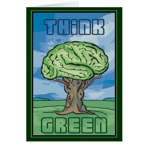 Think Green Brain Cards