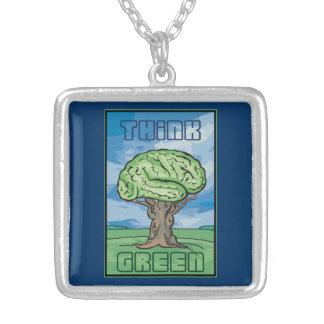 Think Green Brain Custom Necklace