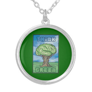 Think Green Brain Personalized Necklace