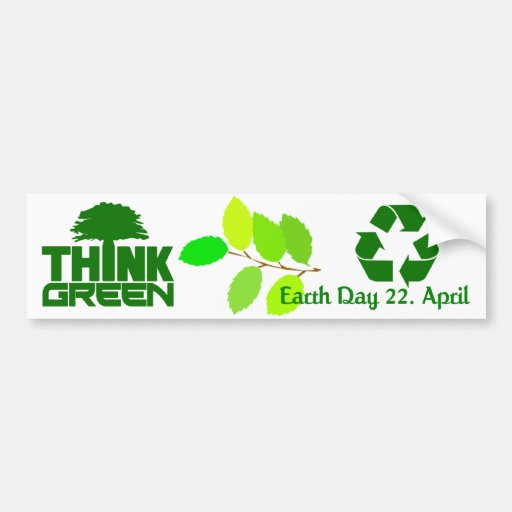Think Green bumpersticker Bumper Stickers