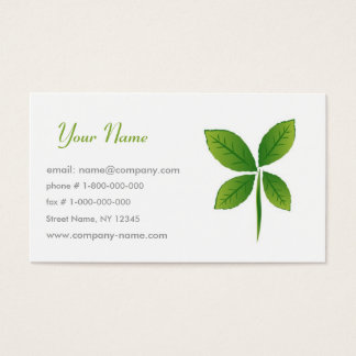 Think Green Business Card