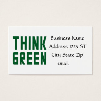 Think Green Business Cards