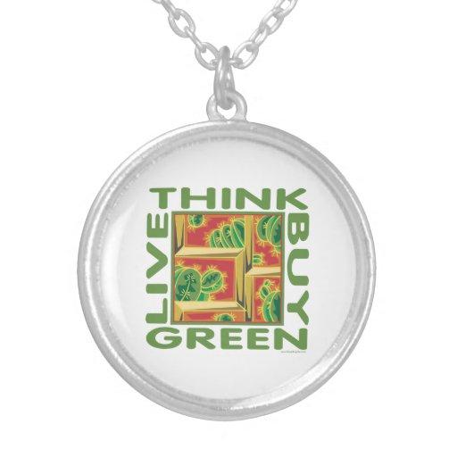 Think Green, Cactus Pendants