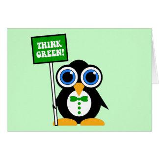 think green greeting card