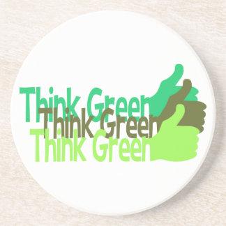Think Green coaster - customize