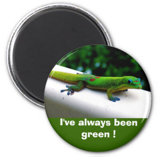 """Think Green"" Conservation 6 Cm Round Magnet"