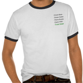 Think Green + crossouts Tshirt