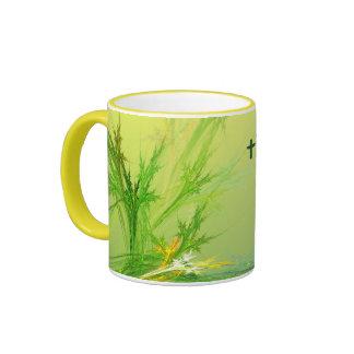 THINK GREEN cup Ringer Mug