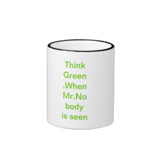 Think Green cups Ringer Coffee Mug