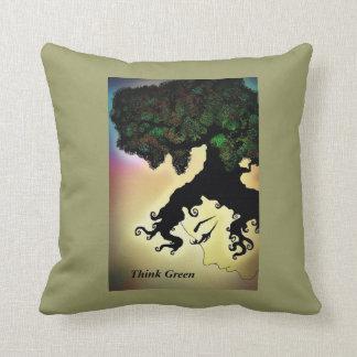 Think Green Pillow
