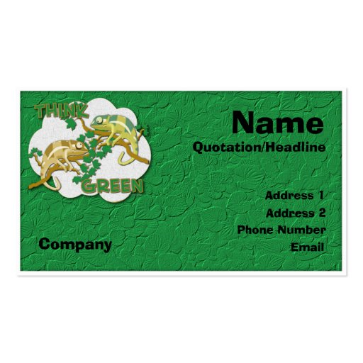 Think Green Customizable Business Card
