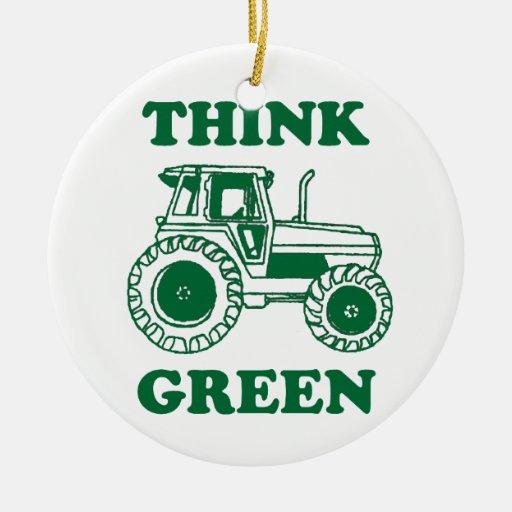Think Green Christmas Tree Ornament