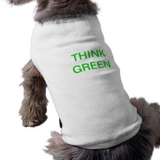 THINK GREEN Doggy t Pet T Shirt