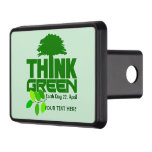 THINK GREEN (Earth Day) custom hitch cover