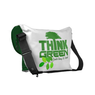 THINK GREEN (Earth Day) messenger bag