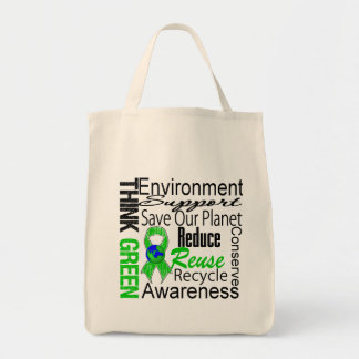 Think Green Environment Collage Tote Bag