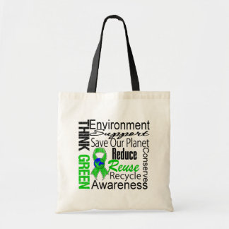 Think Green Environment Collage Budget Tote Bag