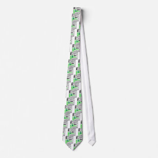 Think Green Environment Collage Tie