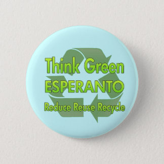 Think Green Esperanto 6 Cm Round Badge