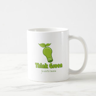 Think Green - for a better tomorrow Classic White Coffee Mug