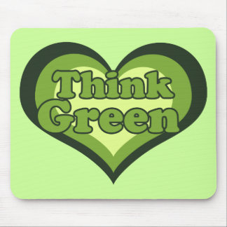 Think Green for Earth Day Environmentalist Mouse Pad