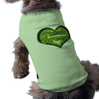 Think Green for Earth Day Environmentalist Sleeveless Dog Shirt