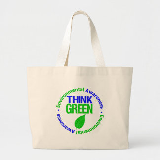 THINK GREEN for the Environment Tote Bags