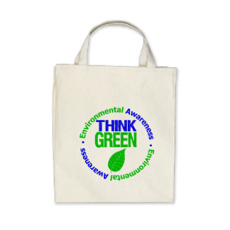 THINK GREEN for the Environment Canvas Bags
