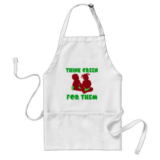 Think Green for Them Adult Apron