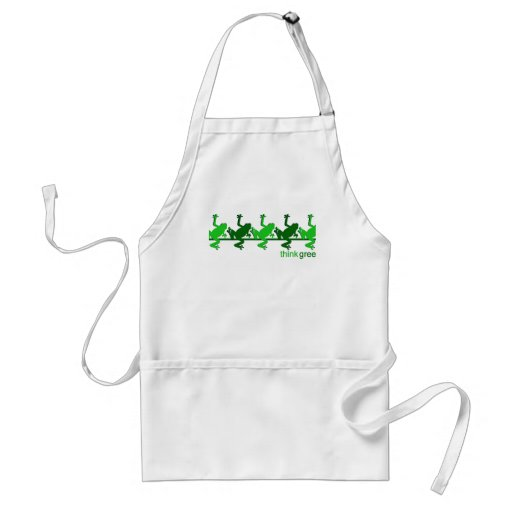 Think Green Frogs Apron