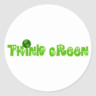 Think Green Globe Stickers