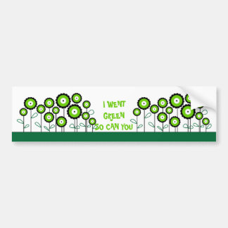 THINK GREEN GO GREEN BUMPER STICKER