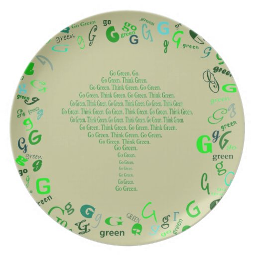think green go green plate