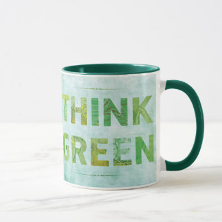 Think Green Happy Quote - TBA Mug