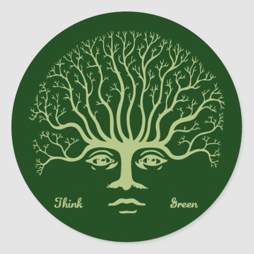 Think Green II Sticker