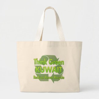 Think Green Kuwait Large Tote Bag