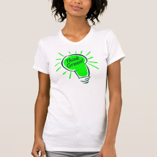 Think Green! Ladies Twofer Sheer (Fitted) T Shirt