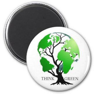 Think Green Refrigerator Magnet