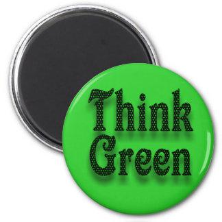 Think Green-Magnet 6 Cm Round Magnet
