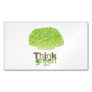 THINK GREEN MAGNETIC BUSINESS CARDS