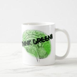 Think Green! Classic White Coffee Mug