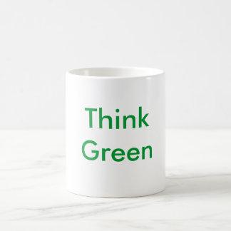 Think Green Classic White Coffee Mug