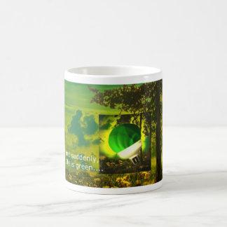 think green mug - English text