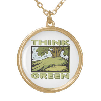 Think Green Oak Tree Necklaces
