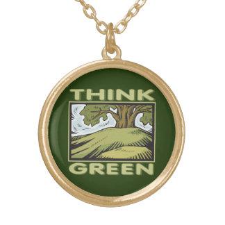 Think Green Oak Tree Custom Necklace