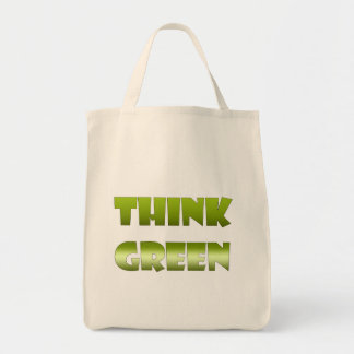 Think Green Organic Grocery Tote Bag