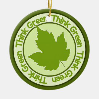 Think Green ornament - customize